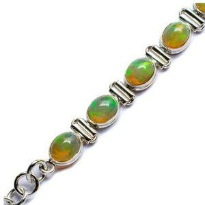 Ethiopian Opal and Silver bracelet